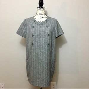 H&M short sleeve sheath dress. Grey